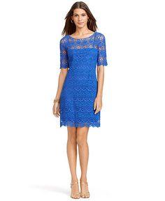 Lauren Ralph Lauren Boat-Neck Lace Dress