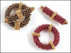 Peyote stitch toggles by Melinda Barta. Free peyote stitch beading pattern from Beading Daily! www.beadingdaily.comhttp://www.beadingdaily.com/online-gallery/free-member-beading-patterns/how-to-make-beaded-toggles