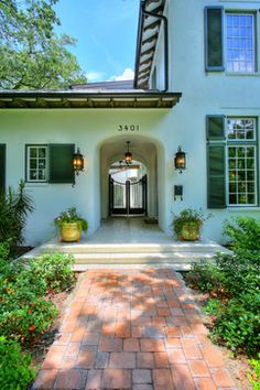 Hammond-Stallworth Residence - tropical - entry - Cooper Johnson Smith Architects and Town Planners