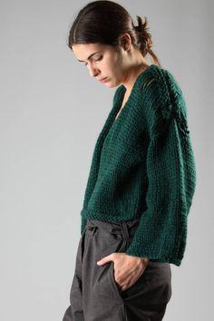 Gudrun & Gudrun   cardigan a giacca aperta in maglia pesante di alpaca…