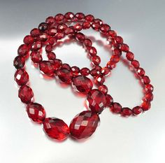 Vintage Cherry Amber Bakelite Art Deco Necklace – Boylerpf