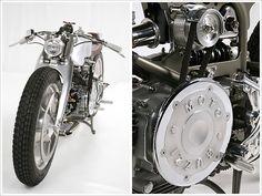 """Rondine"" Moto Guzzi Nuovo Falcone 500 1971 by Medaza Cycles | girder fork built from Harley-Davidson V-Rod swingarm |  2013 AMD World Championship | Ireland"