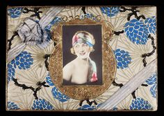 Antique 1920s Hand Tinted Jazz Age Flapper Pin Up Art Deco Candy Box Ornate L K   eBay