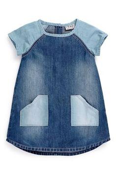 Buy Contrast Denim Dress (3mths-6yrs) from the Next UK online shop