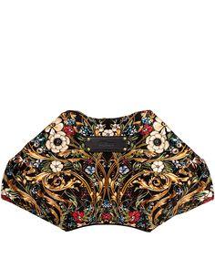 Alexander McQueen Black Floral De Manta Clutch Bag  Liberty.co.uk