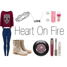 Heart On Fire - Jonathan Clay by thatmixer23 on Polyvore featuring polyvore moda style Topshop Jimmy Choo Blue Nile Lancôme Hourglass Cosmetics Juicy Couture