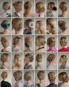24 different ways to do your hair. sadly, no instructions.