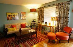 Retro Living Room Redo by Little Chrince, via Flickr