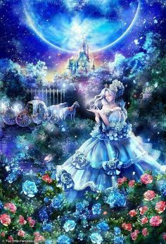 Cinderella in the moonlight for my dear friend Teamac pieces) Disney Movies, Disney Characters, Fictional Characters, Cinderella Art, Free Coloring Pages, Dear Friend, Adult Coloring, Moonlight, Fairy Tales