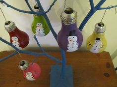 Upcycled Light Bulb Ornaments