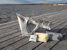 beach bag xxl☆mini☆necessity☆pencil case by c-line Pouches, Line, Totes, Pencil, Tote Bag, Beach, Fishing Line, The Beach, Bags