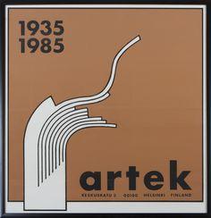 Ben af Schultén; Poster for Artek, 1985.