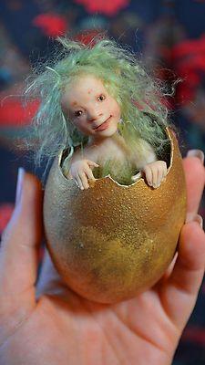 "Wendy Froud Original OOAK Fairy Hatchling from ""Winter's Child"" Terri Windling | eBay"
