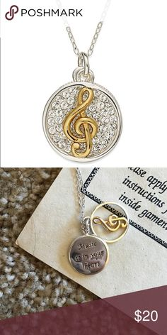 """Sterling Silver """"Music Is In Your Heart"""" Necklace Gently used in great condition Macy's Jewelry Necklaces"""