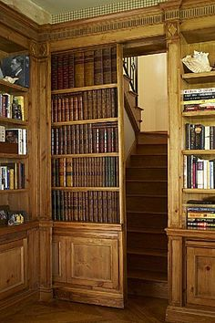 Want.  Pocket door bookshelf to hid an entry/exit.