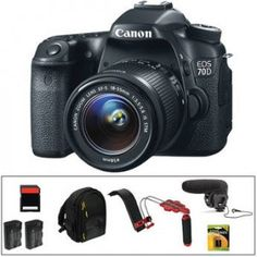 The Canon EOS 70D DSLR Camera Body Video Kit from B&H Photo bundles the EOS 70D DSLR and EF-S 18-55mm f/3.5-5.6 IS STM lens with a 32GB SDHC. more info @ http://www.fushanj.com/