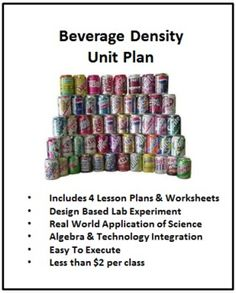 Food Chemistry: Beverage Density Unit & 4 Lesson Plans (for high school). This would be such a fun way to teach chemistry!