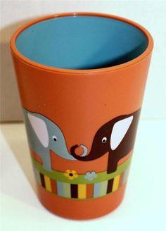 Kids Novelty Bath Tumbler  ELEPHANT in Orange and Blue #SaturdayKnightLtd #Novelty Toothbrush And Toothpaste Holder, Planter Pots, Elephant, Orange, Mugs, Tumblers, Tableware, Bathroom, Decor