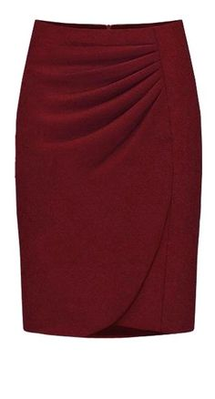 To find out about the Purplish-red Fashion Professional Skirt at SHEIN, part of our latest Skirts ready to shop online today! Red Fashion, Work Fashion, African Fashion, Fashion Dresses, Burgundy Fashion, Gothic Fashion, Work Wardrobe, Work Attire, Mode Style