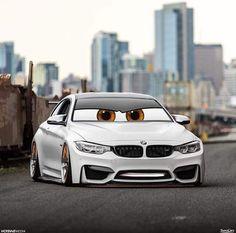 BMW F82 M4 white slammed stance