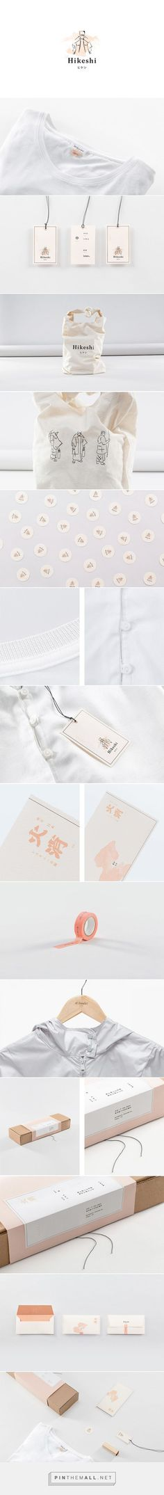 Branding for Hikeshi (a high quality clothing line from Japan): This looks really beautiful and sophisticated. Love the various character illustrations and gorgeous packaging.