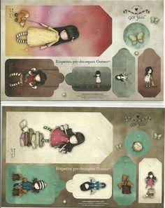 Image du Blog carterie.centerblog.net Scrapbooks, Etiquette Vintage, Diy And Crafts, Paper Crafts, Little Doll, Digi Stamps, Printable Paper, Copics, Sticker Paper
