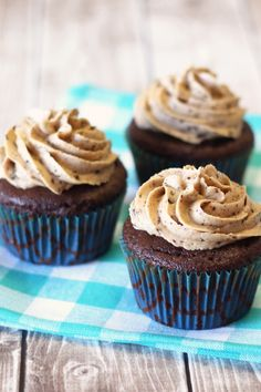 Gluten Free Vegan Mocha Chip Cupcakes. An allergen free cupcake that is chocolatey and full of coffee flavor. Coffee lovers unite!