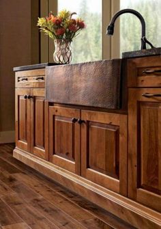Love this rustic sink!