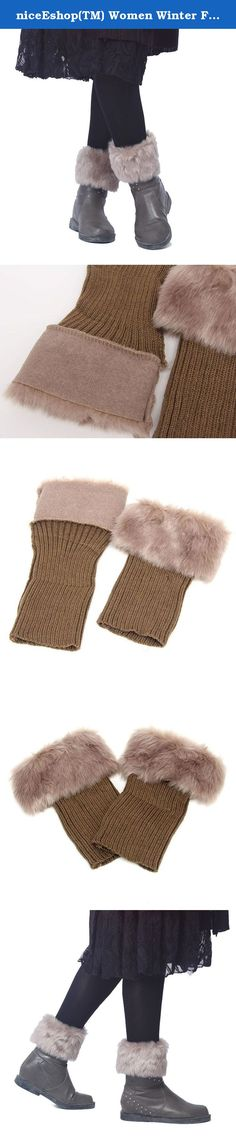 niceEshop(TM) Women Winter Faux Fur Boot Cuff Knitting Soft Leg Warmers. Description: 100% Brand New And High Quality Materials: Acrylic,Faux fur Size: onesize fit for most,length: 27cm/10.6in Package include: 1 x womens boot cuff Please note: 1> niceeshop(TM) is a registered trademark and the only authorized seller of niceeshop branded products. 2> niceeshop provide you various kinds of great products at the lowest possible prices, welcome to our store and get what you want !!! 3…