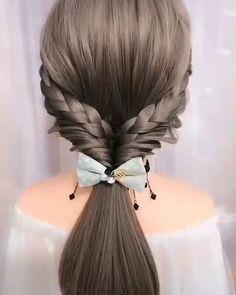 Amazing😍😍 # Braids for school mornings Amazing😍😍 Easy Hairstyles For Long Hair, Braids For Long Hair, Scarf Hairstyles, Cute Hairstyles, Wedding Hairstyles, Hairstyles Videos, Hair Up Styles, Medium Hair Styles, Hair Style Vedio