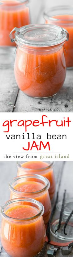 Pink Grapefruit and Vanilla Bean Jam ~ it's unlike any jam you've probably had, but I guarantee that once you've tasted it you'll never forget it!