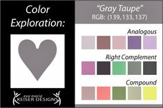 Explore Color:  Gray Taupe
