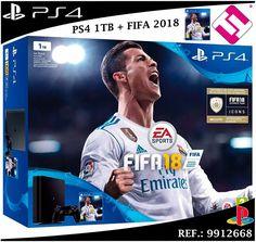 VIDEOCONSOLA SONY PS4 PLAYSTATION 4 1TB SLIM + JUEGO FIFA 2018 CONSOLA GAMING 18