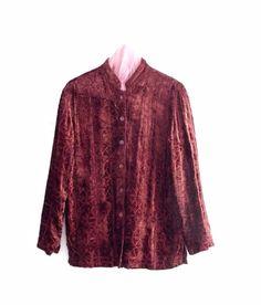 Bohemian Embroidered Velvet Burgundy Jacket by KheGreen on Etsy