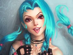 Vídeo Game League Of Legends  Jinx (League Of Legends) Papel de Parede