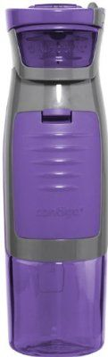Contigo AUTOSEAL Kangaroo Water Bottle with Storage Compartment, 24-Ounce, Purple