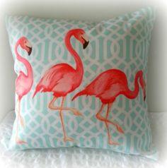 A Flamingo Affair Cushion Cover Indoor Outdoor Lounge Patio Furniture Decor | eBay