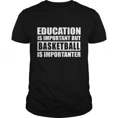 BASKETBALL is importanter T Shirts, Hoodies, Sweatshirts. GET ONE ==> https://www.sunfrog.com/Fitness/BASKETBALL-is-importanter-Black-Guys.html?41382