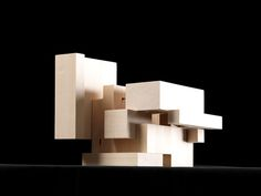 Perspective of cube model in open position. Cubic Architecture, Architecture Program, Architecture Concept Drawings, Architecture Portfolio, Architecture Design, Architecture Models, Architecture Diagrams, Architectural Drawings, Arch Model