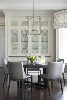 Breakfast Nook with built-in china cabinet Dinning Room Cabinet, Dining Room Hutch, Cabinet Decor, Dining Rooms, Built In Hutch, Built In Cabinets, China Cabinets, Rectangular Living Rooms, Small Dining