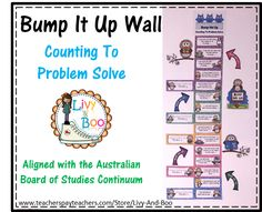 This Owl themed Bump It Up Wall includes all indicators in line with the NSW Board of Studies Numeracy Continuum - Counting To Problem Solve Aspect.