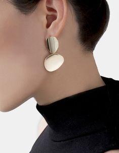 Miro disc earrings
