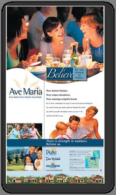 Ave Maria Ad 1 by CEA Marketing Group, via Flickr