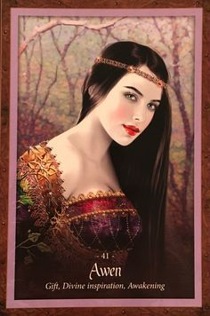 Awen, from The Faery Forest Oracle Card deck, by Lucy Cavendish, Artwork by Maxine Gadd