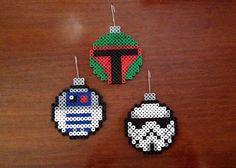Star Wars Inspired Christmas Ornament Set perler beads by Erin ...