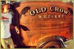 Bobby Green's Old Crow Speed Shop 1934 Ford panel truck, that I lettered and aged to look as if it's always been there. Truck Lettering, Vintage Lettering, Van Signs, Door Signs, 1954 Ford Truck, Door Letters, Commercial Van, Truck Signs, Shop Truck