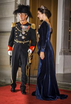 Danish Royals attend New Year's banquet at the royal palace Amalienborg in Copenhagen January 1, 2016.