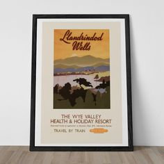 WALES TRAVEL Poster - WYE Valley Travel Poster Vintage British Railways Travel Poster Vintage Train Poster Quality Reproduction