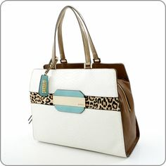 GUESS ONLINESHOP : Handtasche Guess Suza - Madison Satchel Chalk