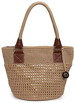 Shop for Cambria Round Tote Bag by The Sak at ShopStyle. Crochet Clutch, Crochet Handbags, Crochet Purses, Crotchet Bags, Knitted Bags, Ethnic Bag, Round Bag, Straw Tote, Cute Bags